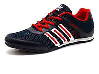Кроссовки мужские летние Adizero, комбинированные, темно-синие/ красные, фото 1
