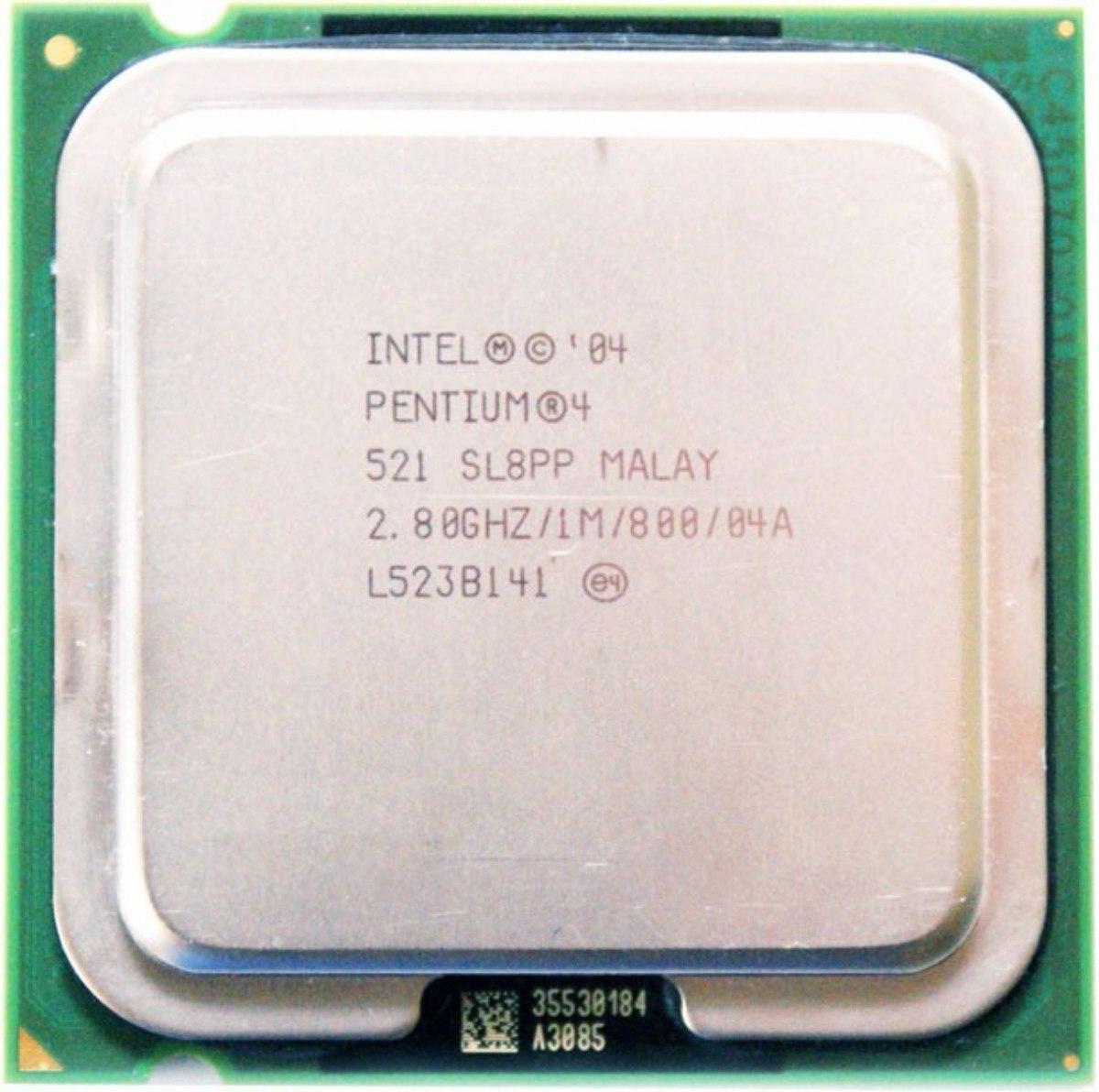Процессор Intel Pentium 4 521 2.80GHz/1M/800 (SL8PP) s775, tray