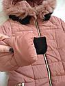 Детский пуховик пальто зимнее на девочку размеры 40,  42, фото 6