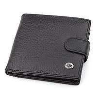 Мужской кошелек ST Leather 18345 (ST153) кожаный Черный, Черный, фото 1