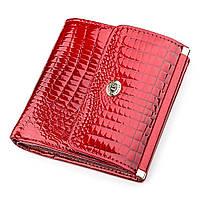 Кошелек женский ST Leather 18355 (S1101A) очень красивый Красный, Красный, фото 1