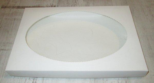 Коробочка с овальным окошком 30*20 см, Прямоугольная