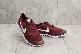 Кроссовки G 7385 -2 (Nike Free Run 3.0) (лето, женские, текстиль, бордовый)