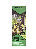 Наушники проводные с микрофоном Remax RM-610