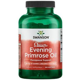 Swanson EFAs Evening Primrose Oil  Масло примулы вечерней 1500 мг 100 капс