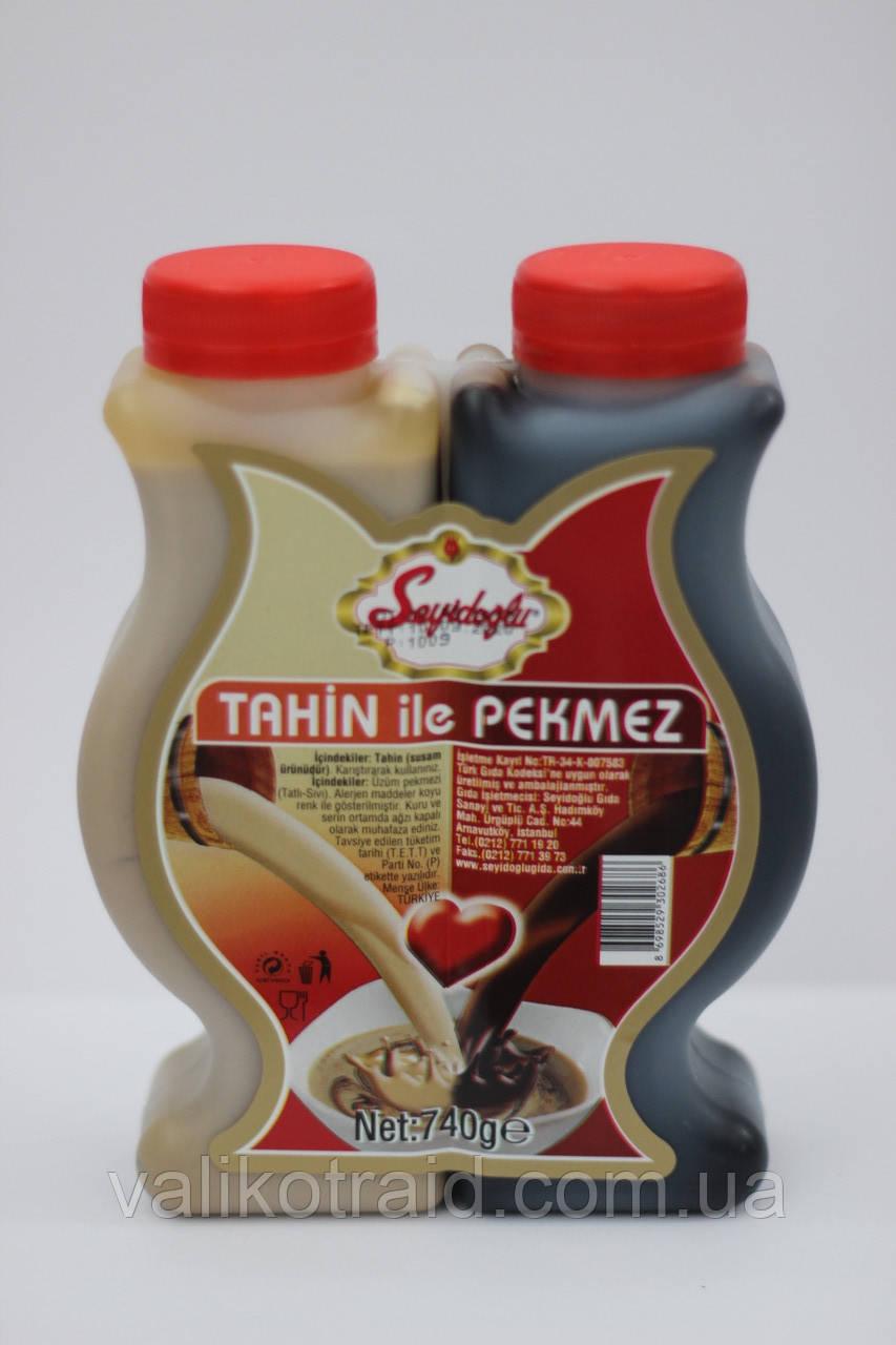 Тахин и пекмез  Seyidoglu (кунжутная паста c виноградным сиропом) пластик 740 г