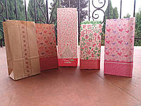 Пакет бумажный подарочный косметика бижутерия конфеты 85х65х190 (1000шт/уп) крафт 70гр.
