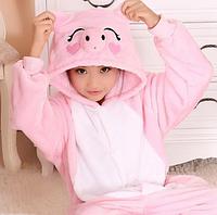 ✅ Детская пижама Кигуруми розовый поросенок (свинка пеппа)  130 (на рост 128-138см)