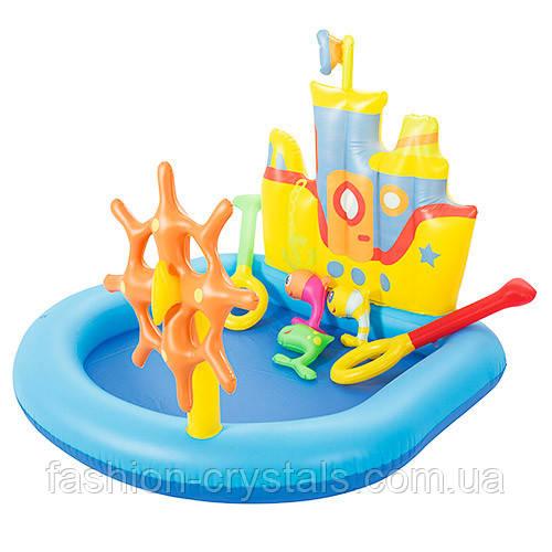 Детский надувной бассейн  корабль 52211