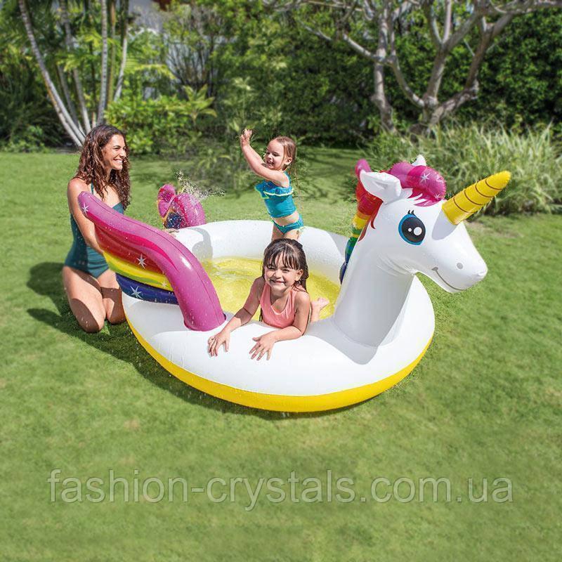 Детский надувной бассейн единорог