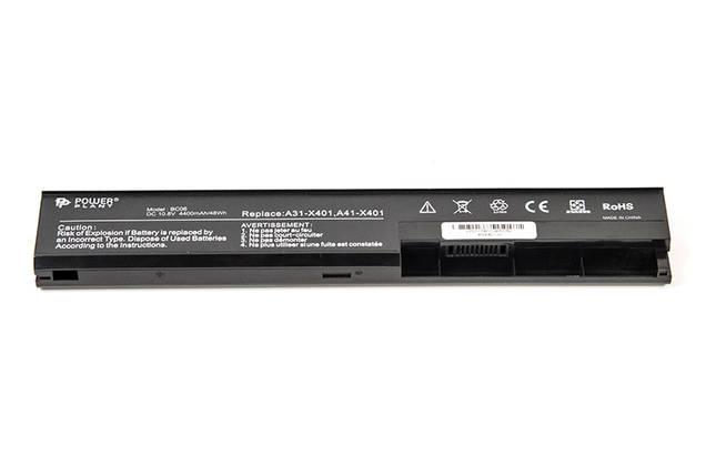 Аккумулятор PowerPlant для ноутбуков ASUS X401 (ASX401LH, A32-X401) 10.8V 4400mAh, фото 2