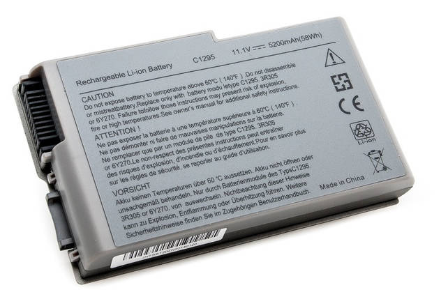 Аккумулятор PowerPlant для ноутбуков DELL Latitude D600 (C1295, DE D600, 3S2P) 11.1V 5200mAh, фото 2