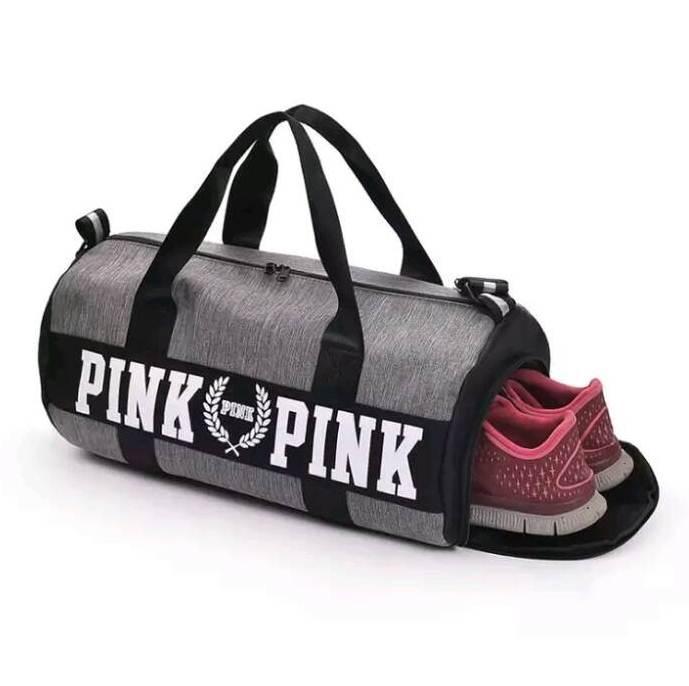 ab6a7750e864 Женская спортивная сумка для фитнеса Victoria's Secret Pink с карманом для  обуви - Parfum De Luxe