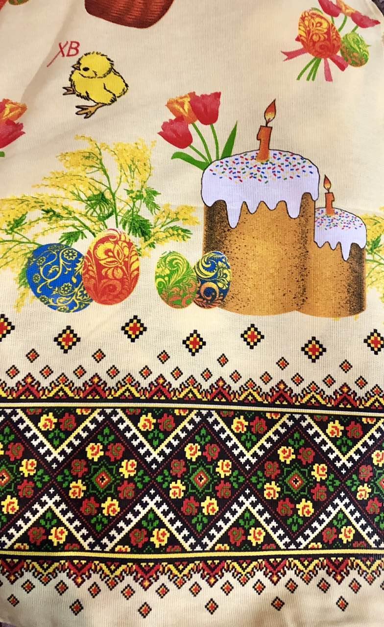 Кухонные Пасхальные полотенечки лен 40*70