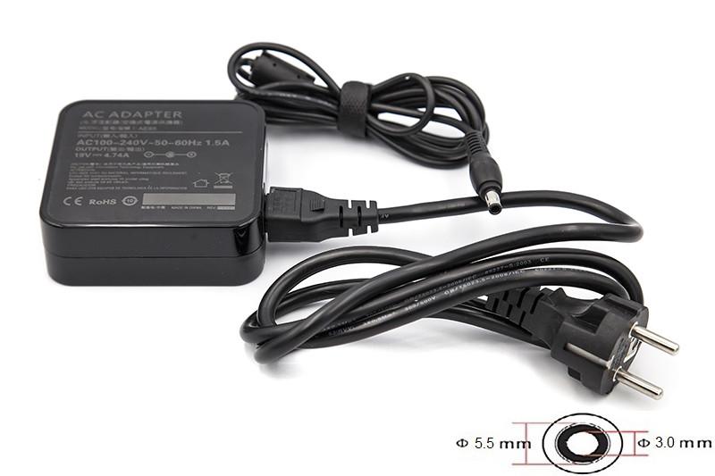Блок живлення для ноутбуків PowerPlant SAMSUNG 220V, 19V 90W 4.74 A (5.5*3.0) wall mount