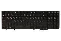 Клавиатура для ноутбука HP 6540B, 6545B, 6550B черный, черный фрейм