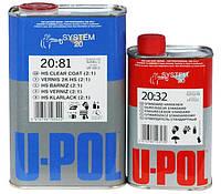 Автомобільний лак U-POL S2081 НЅ 2К безбарвний 2 + 1 1л. + затверджувач 0,5 л.