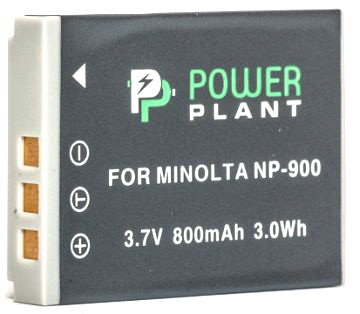 Акумулятор PowerPlant Minolta NP-900, Li-80B 800mAh