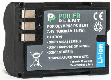 Аккумулятор PowerPlant Olympus PS-BLM1 1600mAh, фото 2