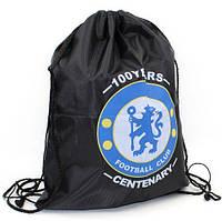 Рюкзак-мешок CHELSEA (полиэстер, р-р 40х50 см, черный)