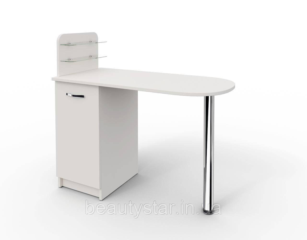 """Маникюрный стол c полочками под лак """"Практик"""""""