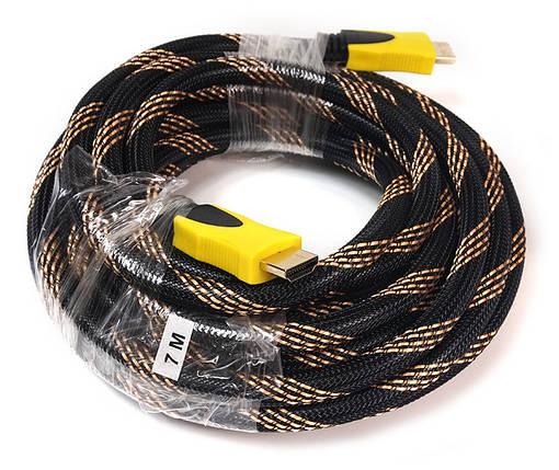 Відео кабель PowerPlant HDMI - HDMI, 7м, позолочені конектори, 1.3 V, Nylon, фото 2