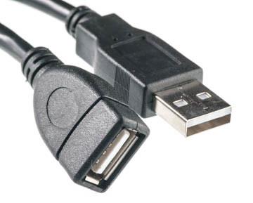 Кабель PowerPlant USB 2.0 AF – AM, 0.5 м