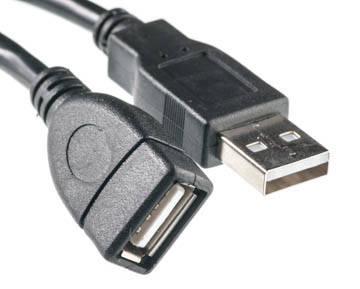 Кабель PowerPlant USB 2.0 AF – AM, 0.5 м, фото 2