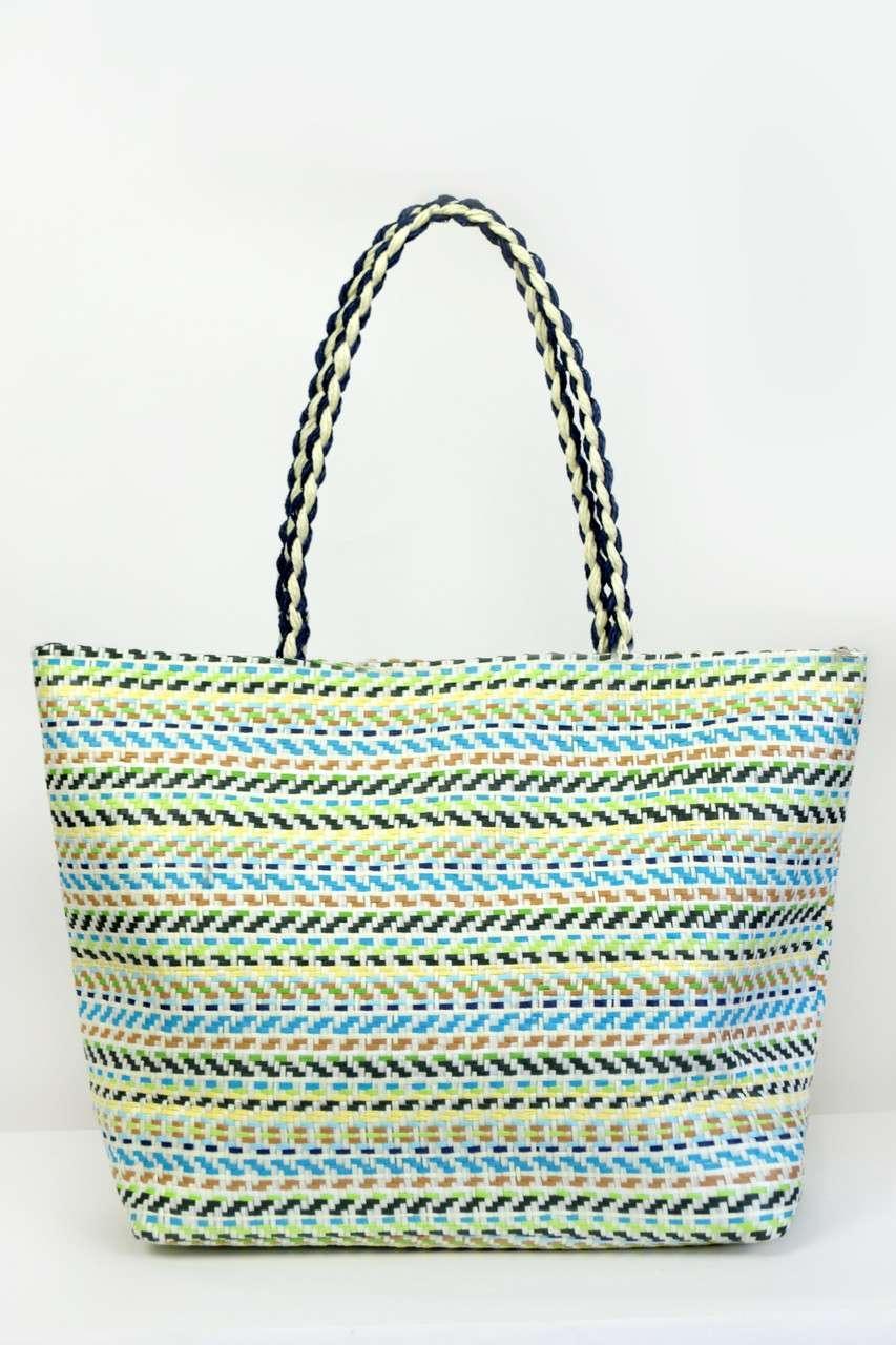 ca02407b115e Пляжные сумки Famo Пляжная сумка Верона бирюзовая 50х16 см - 135426 - One  Home Beauty стильные