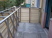 Балкон с выносом + внешняя обшивка