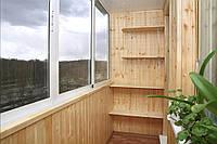 Внутренняя обшивка балкона с утеплением