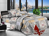 ✅ Двуспальный Евро комплект постельного белья (Поликоттон) TAG XHY1364