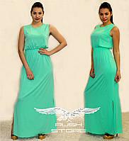 Платье в пол с разрезами по бокам, фото 1