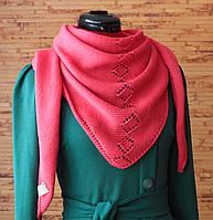 Косынка вязаная, бактус, шарф, шарф-косынка