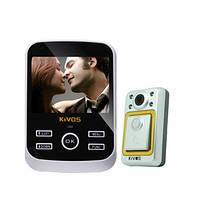 """Видеоглазок c 3,5"""" дисплеем с записью фото и видео по детектору движения на SD карту памяти (Kivos KDB01S)"""