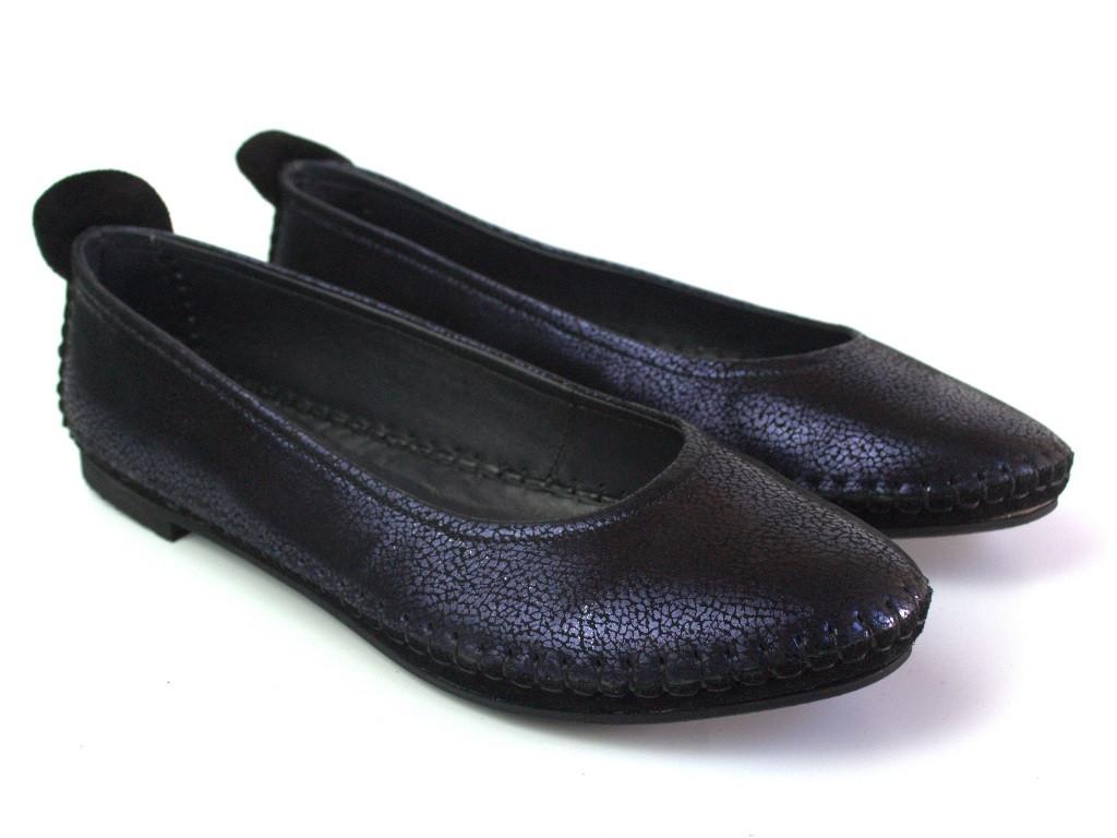 Большой размер балетки женские кожаные Strache U Violet Leather by Rosso Avangard BS фиолетовые
