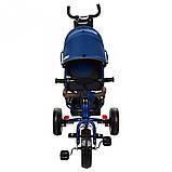 Велосипед трехколесный Turbo Trike M 3113-5А с родительской ручкой, фото 3