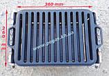 Решітка чавунна гриль для барбекю мангалу 260х420 мм., фото 5
