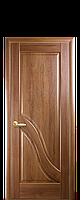 Дверное полотно Амата Золотая ольха глухое с гравировкой