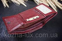 Кошелек женский кожаный маленький ярко бордовый, фото 2