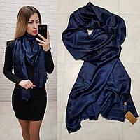 Женский палантин реплика Gucci цвет темно-синий, фото 1