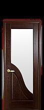 Дверное полотно Амата Каштан со стеклом сатин