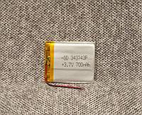 Литий полимерный аккумулятор 343743 3.7V 700mah
