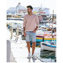 Мужская толстовка свитшот на лето светло-розовая, фото 2