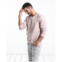 Мужская толстовка свитшот на лето светло-розовая, фото 3