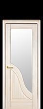 Дверное полотно Амата Ясень New со стеклом сатин