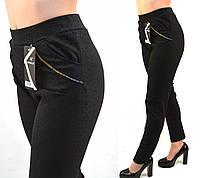 Лосины женские с узором и боковыми карманами в больших размерах