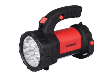 Фонарь ручной многофункциональный Tiross TS-1871 15 LED + 2W COB LED red