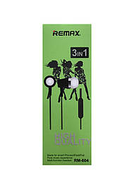 Дротові навушники з мікрофоном Remax RM-604