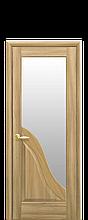 Дверное полотно Амата Золотой дуб со стеклом сатин